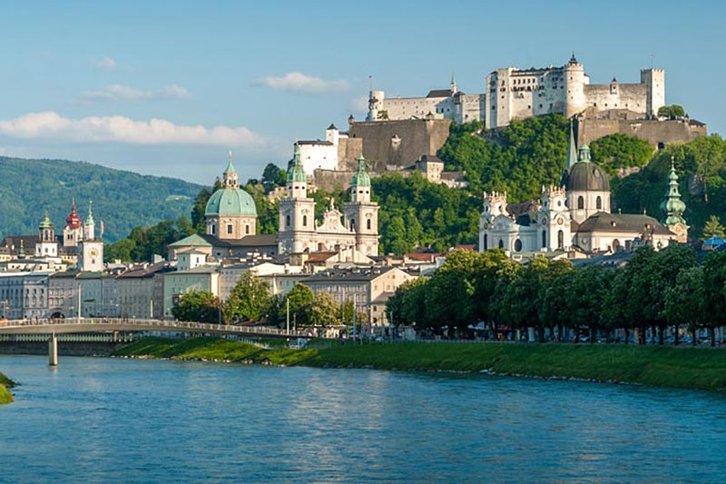 The city of Salzburg – ca. 80 km